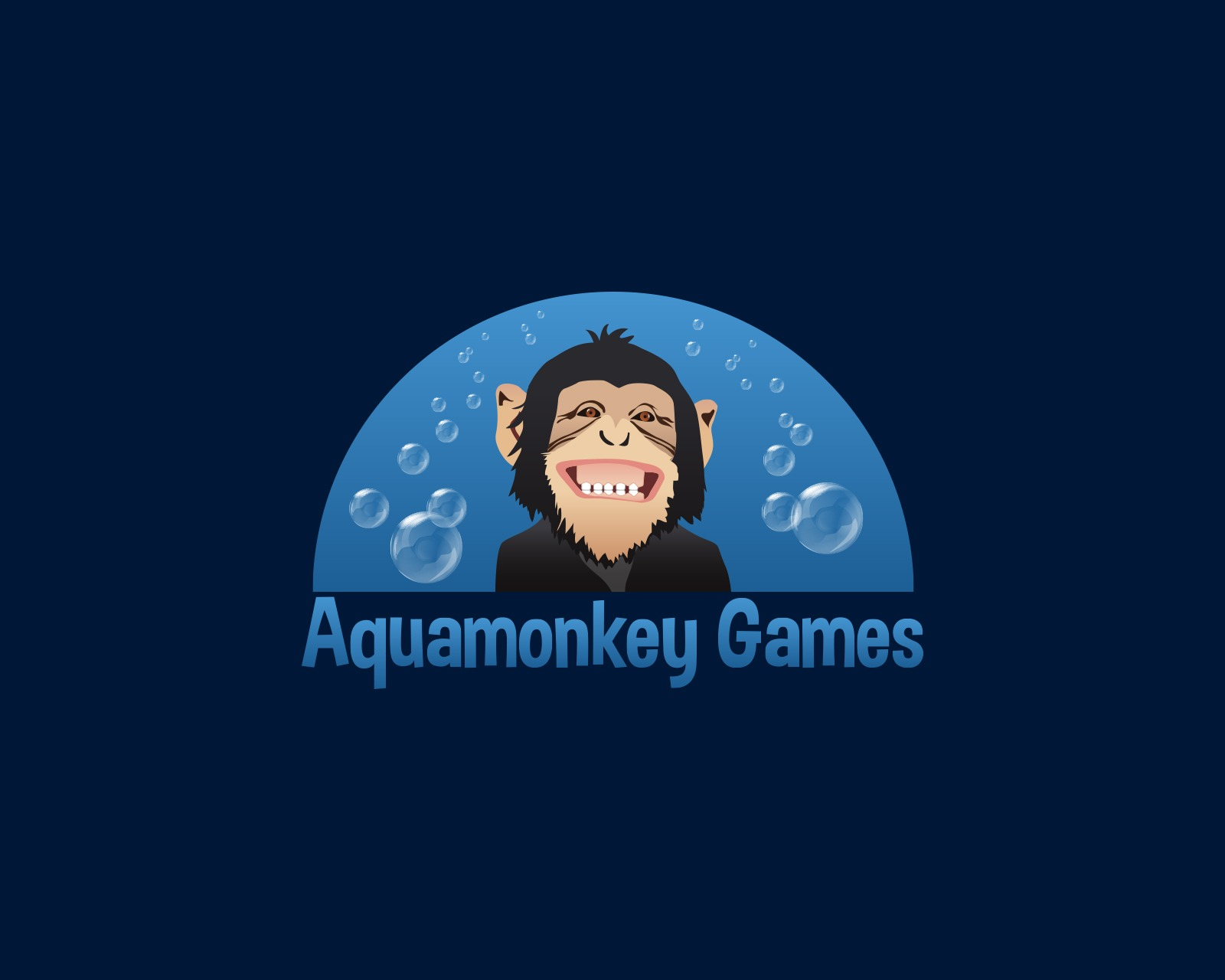 Aquamonkey Games Logo Design
