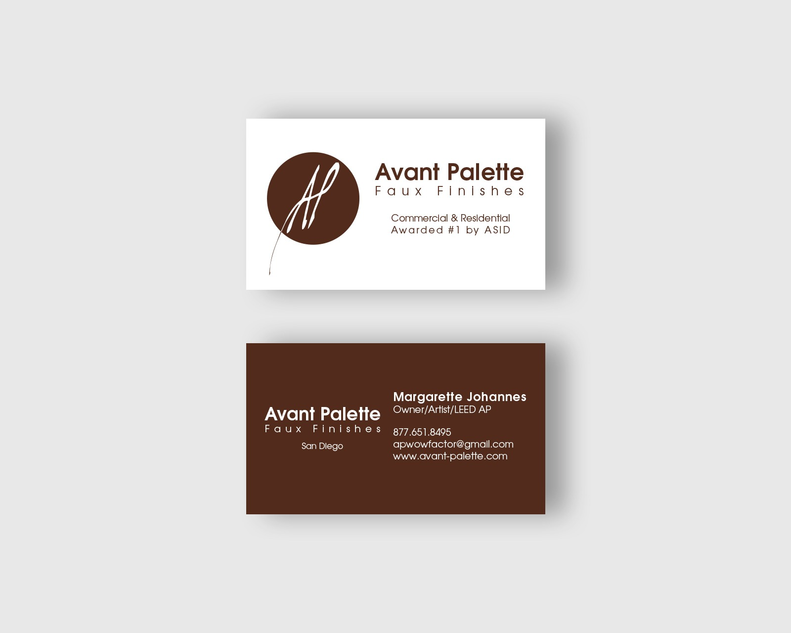 Avant Palette Business Card Design